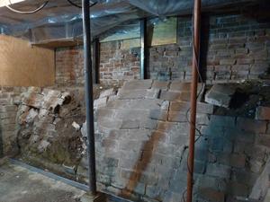 foundation wall repairs with shotcrete shotcrete