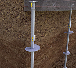 Helical Pile for New Commercial Construction