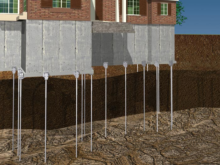 Push pier system fsi underpinning and foundation repair for Foundation piers